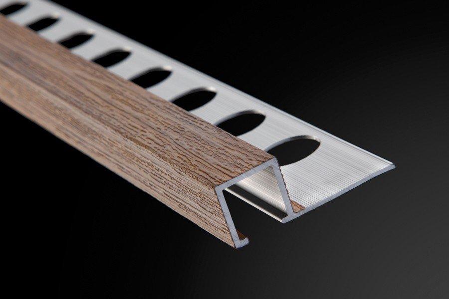 Perfil y Listelo Cuadrado Aluminio Madera