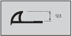 Esquema Perfil Curvo PVC
