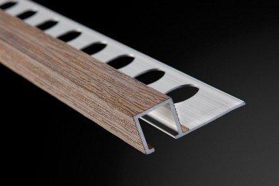 Square Profile and Listel Aluminium Wood